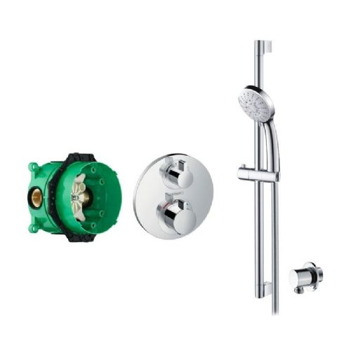 Abacus Emotion Plus Thermostatic Concealed Shower Kit With Hand Shower